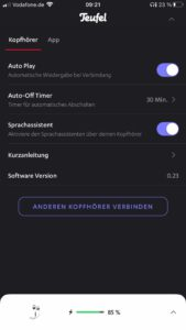 Teufel Airy Sports App