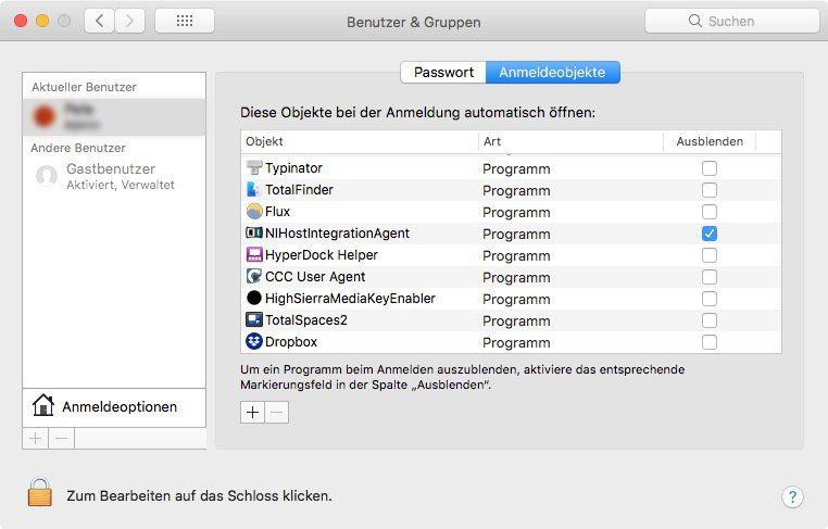 Autostart am Mac